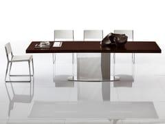 Tavolo allungabile rettangolare in acciaio inox LOTO | Tavolo rettangolare -