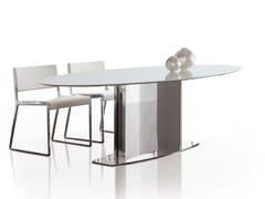 Tavolo ovale in acciaio inox LOTO | Tavolo ovale -