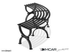 Panchina curva modulare in metallo in stile classico senza schienalePanca Siris - DIMCAR