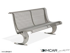 Panchina in acciaio inox in stile moderno con schienalePanchina Luxe in acciaio inox - DIMCAR