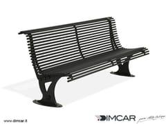 Panchina in metallo in stile moderno con schienalePanchina Mira - DIMCAR