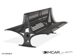 Panchina in metallo in stile moderno con schienalePanchina Gabbiano - DIMCAR