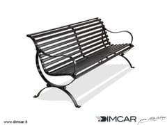 Panchina in metallo in stile classico con braccioli con schienalePanchina Aurelia - DIMCAR