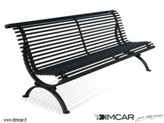 DIMCAR, Panchina Lory Panchina in metallo in stile classico con schienale