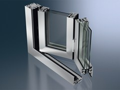 Schüco, Schüco ASS 80 FD.HI Porta-finestra a libro a taglio termico in alluminio