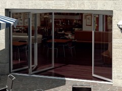 Schüco, Schüco ASS 50 FD.NI Porta-finestra a libro in alluminio