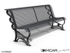 DIMCAR, Panchina Margherita Panchina in metallo in stile classico con schienale