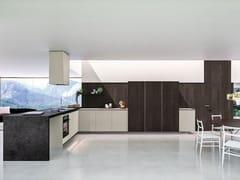 Cucina componibile in legno con penisola WAY | Cucina con penisola - SISTEMA