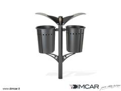 Portarifiuti interrato in metallo per esterniCestino doppio Pirro - DIMCAR