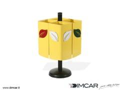 Portarifiuti in metallo per esterni per raccolta differenziataCestino Eco 4 - DIMCAR