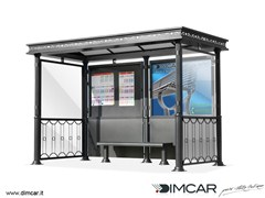 Pensilina per fermata autobusPensilina Liberty - DIMCAR
