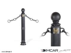 DIMCAR, Dissuasore Doria con anelli Dissuasore a paletto fisso in metallo per catene
