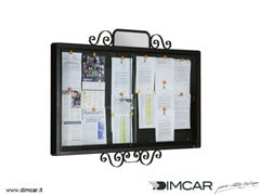 Bacheca a muro in acciaio zincatoBacheca Classic - DIMCAR