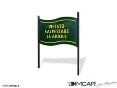 Tabella segnaletica per aree verdiTabella Flag - DIMCAR