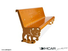 Panchina in metallo in stile moderno con schienalePanchina Kimba - DIMCAR