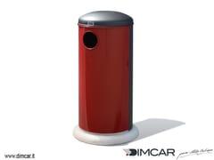 Portarifiuti in metallo per esterni con coperchioCestone Oblò - DIMCAR