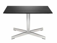 Tavolino quadrato con base a 4 razze GRATO | Tavolino con base a 4 razze - Grato