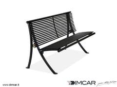 Panchina in metallo in stile moderno con schienalePanchina Dubai - DIMCAR