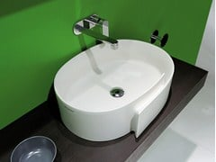 Lavabo da appoggio ovale in ceramica ROLL 56 | Lavabo da appoggio - Roll