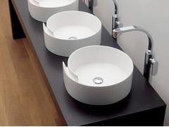 Lavabo da appoggio rotondo in ceramica ROLL 44 | Lavabo da appoggio - Roll