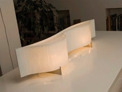 Lampada da tavolo a luce indiretta in metalloVENTO | Lampada da tavolo - ARTURO ALVAREZ