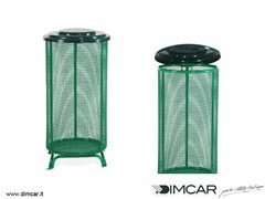 Portarifiuti in metallo per esterni con coperchioCestone Eco - DIMCAR