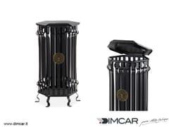 Portarifiuti in metallo per esterni con coperchioCestone Barocco con coperchio - DIMCAR