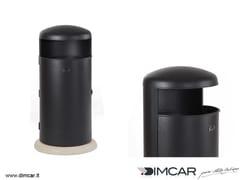 Portarifiuti in metallo per esterni con coperchioCestone Elmo - DIMCAR