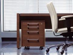 Cassettiera ufficio in legno con ruote STATUS | Cassettiera ufficio - Status