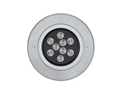 Proiettore per esterno a LED in alluminio2100 MEDIO Anello Inox - PLATEK