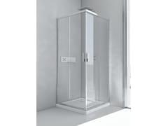 RELAX, EVOLUTION A Box doccia in alluminio e vetro con porta scorrevole