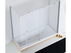 RELAX, AXIA SF-V + F1-V Parete per vasca in cristallo
