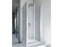 RELAX, LIGHT B2 + F4 Box doccia angolare in alluminio e vetro