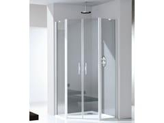 RELAX, LIGHT PE Box doccia in alluminio e vetro con porta pivotante