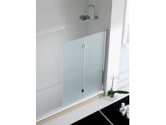 RELAX, LIGHT VS Parete per vasca pieghevole in alluminio e vetro