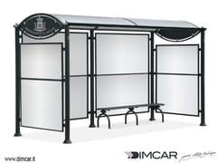 Pensilina in acciaio per fermata autobusPensilina Gabry - DIMCAR