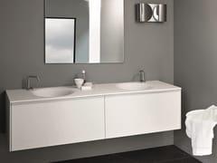 Mobile lavabo sospeso con lavabo integratoMORPHING UNIT 180 - KOS BY ZUCCHETTI