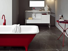 Mobile lavabo in metallo con cassettiMORPHING STEEL 130 - KOS BY ZUCCHETTI