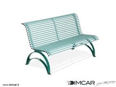 DIMCAR, Panchina Danea Panchina in metallo in stile classico con schienale
