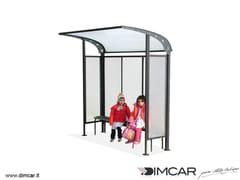 Pensilina in metallo per fermata autobusPensilina Scuolabus - DIMCAR