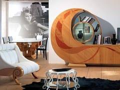 Tavolino basso in legno e vetro da salottoMEDUSA - CARPANELLI
