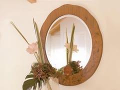 Specchio rotondo da parete con corniceZEBRANO | Specchio rotondo - CARPANELLI