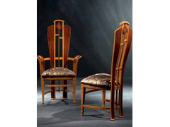 Sedia imbottita in legno con braccioli con schienale altoPALISSANDRO | Sedia - CARPANELLI
