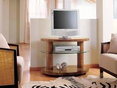 Mobile TV in noce con ruoteZEBRANO | Mobile TV - CARPANELLI