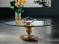 Tavolino da caffè in cristalloTavolino con fusione in Ottone - CARPANELLI