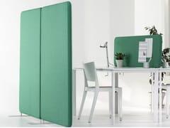Pannello divisorio fonoassorbente free standingSOFTLINE | Pannello divisorio free standing - ABSTRACTA