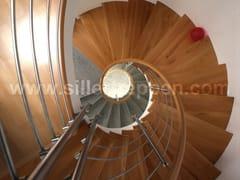 Scala a chiocciola in acciaio inox e legnoCLASSIC | Scala a chiocciola - SILLER TREPPEN