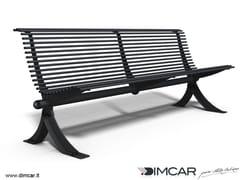 Panchina in metallo in stile moderno con schienalePanchina Vera - DIMCAR