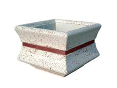 Lazzari, AR055 Fioriera quadrata in cemento