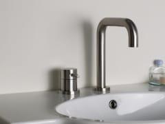 Miscelatore per lavabo a 2 fori in acciaio inox STIRIANA 6400+6190 - STIRIANA